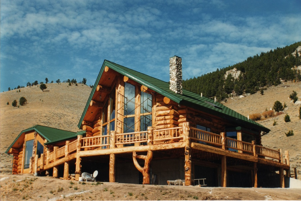 Timber frame and log homes for Log a frame homes